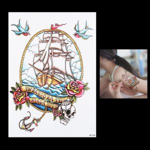 Temporary Tattoo HB-268 Traditional Boat