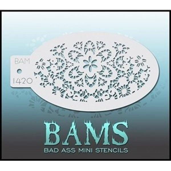 Bad Ass Stencils BAM 1420 - Lace Stencil