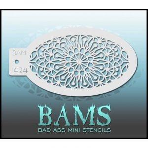Bad Ass Stencils BAM 1424 - Mandala Stencil