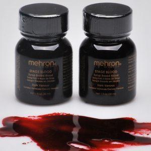 Mehron Stage Blood - Dark Venous w/ Brush (30 ml)