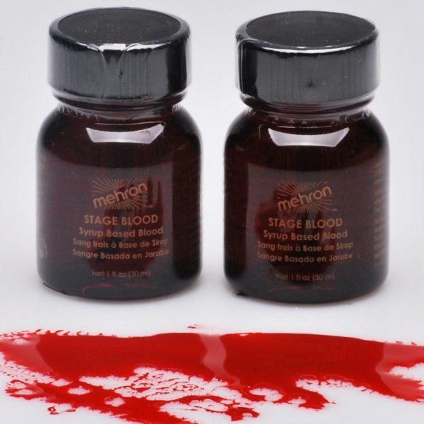 Mehron Stage Blood - Bright Arterial w/Brush (30 ml)