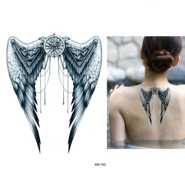 1pc Beauty Body Temporary Tattoo KM 048 Elk Deer Pattern Women Men Flower Arm Leg