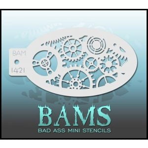 BAM 1421 - Cogs and Gears Stencil