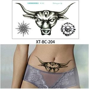 Temporary Tattoo BC-204 Bull and Small Celtic Knot
