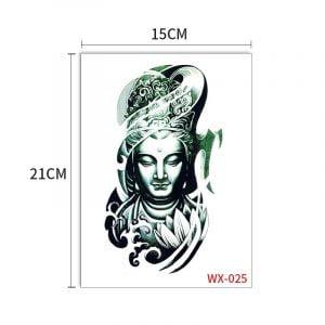 Temporary Tattoo WX-025 Buddha Zen