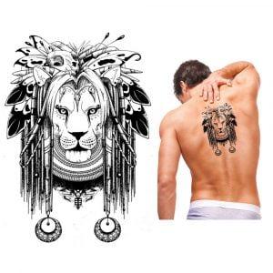 Temporary Tattoo KM-067 Tribal Lion