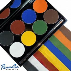 Mehron Paradise Makeup AQ – 8 Color Palette – Basic
