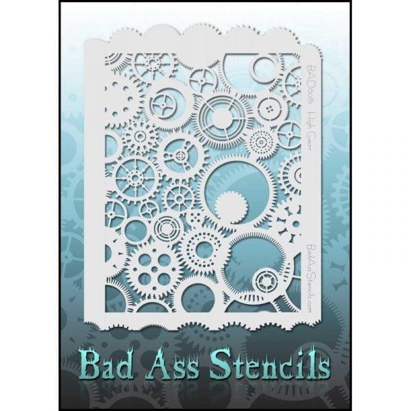Bad Ass Stencils BAD6081 - High Gear Steampunk Cogs