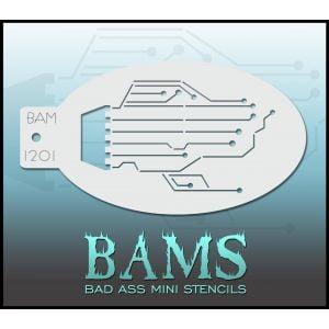 Bad Ass Stencils BAM 1201 Circuit Robot Cyborg