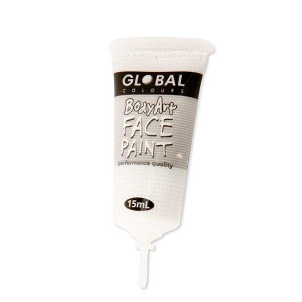Global Face Body Paint Liquid White