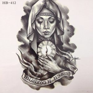 Temporary Tattoo HB-412 Woman with Candle