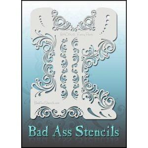 Bad Ass Stencils BAD6076 - Fancy Pants