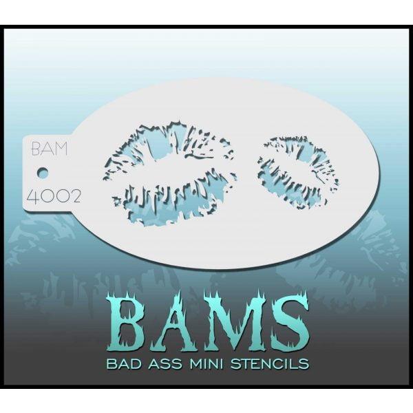 Bad Ass Stencils BAM 4002 - Kiss Stencil