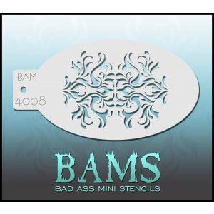 Bad Ass Stencils BAM 4008 - Fleur de Lis Stencil