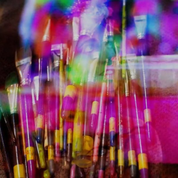 colourful brushes paints