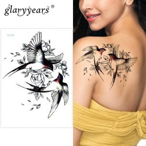 Temporary Tattoo LC-734 Two Sparrows