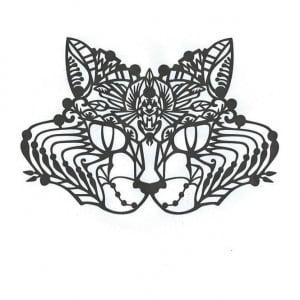 Face Lace - Bastet (Black) Egyptian Cat Mask