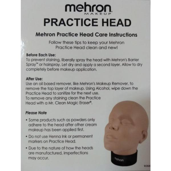 Face Paint Practice Head