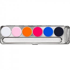 Kryolan Aquacolor UV-Dayglow Palette - Neo