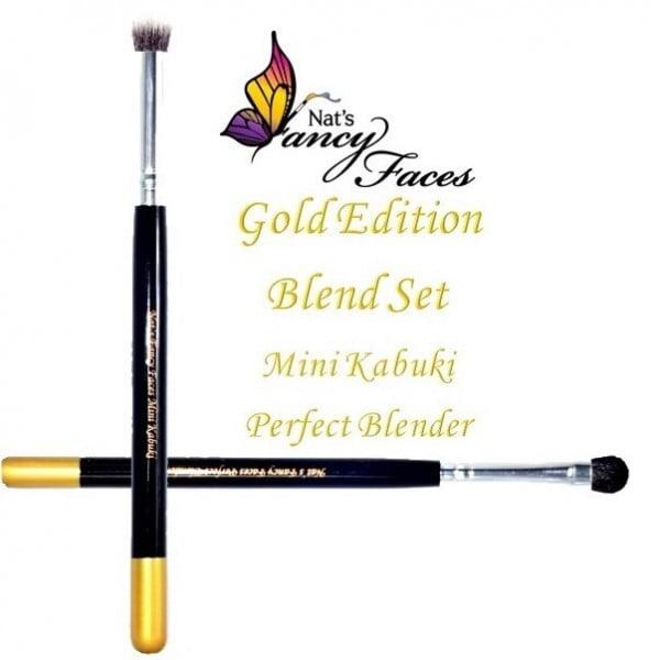 Fusion - Nat's Gold Edition - Face Painting Mini Kabuki & Perfect Blender Set