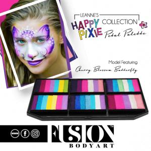 Fusion Face Painting Palette - Leanne's Happy Pixie - Petal Palette