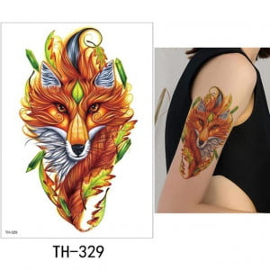 Temporary Tattoo TH-329 Stylised Fox Illustration