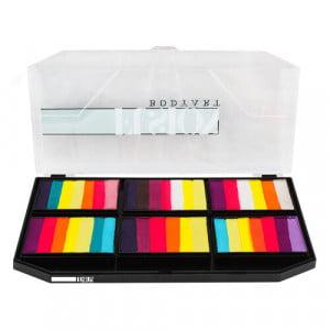 Fusion Body Art Face Paint Palette - Leanne's Vivid Rainbow - Petal Palette