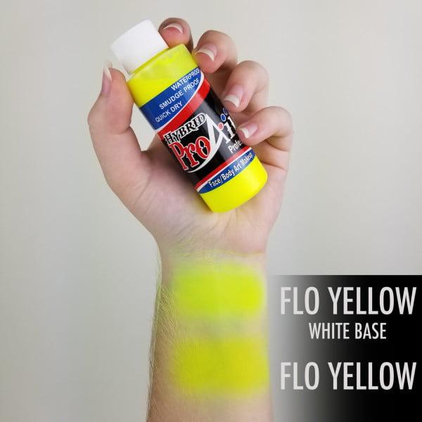 ProAiir Hybrid Fluorescent Yellow 60ml (2oz) UV Neon Airbrush Paint