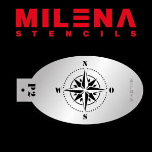 Milena Stencil Compass Stencil