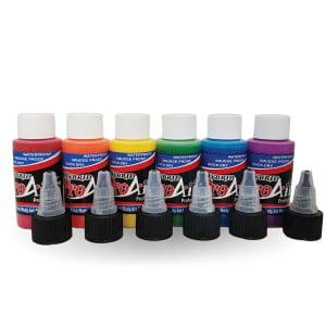 ProAiir Hybrid Rainbow Colours Pack 6 x 30ml (1oz) Airbrush paint