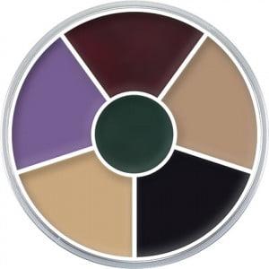 Kryolan Cream Color Circle - Black Eye Bruise Wheel