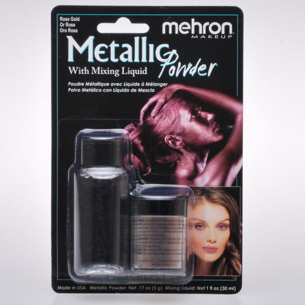 Mehron Metallic Powder & Mixing Liquid - Rose Gold